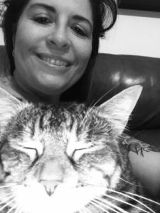 Susan Stutz and Cat